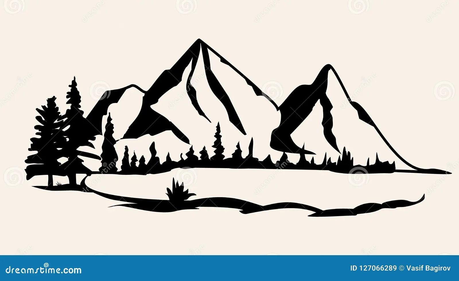 mountains vector mountain range