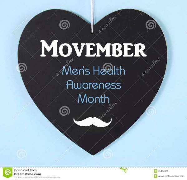 Movember Fundraising For Mens Health Awareness Message On