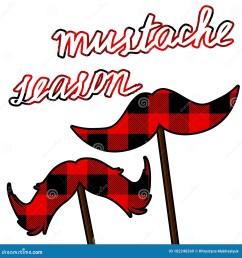 movember moustache card with lumberjack pattern mustache season vector clipart [ 1300 x 1390 Pixel ]
