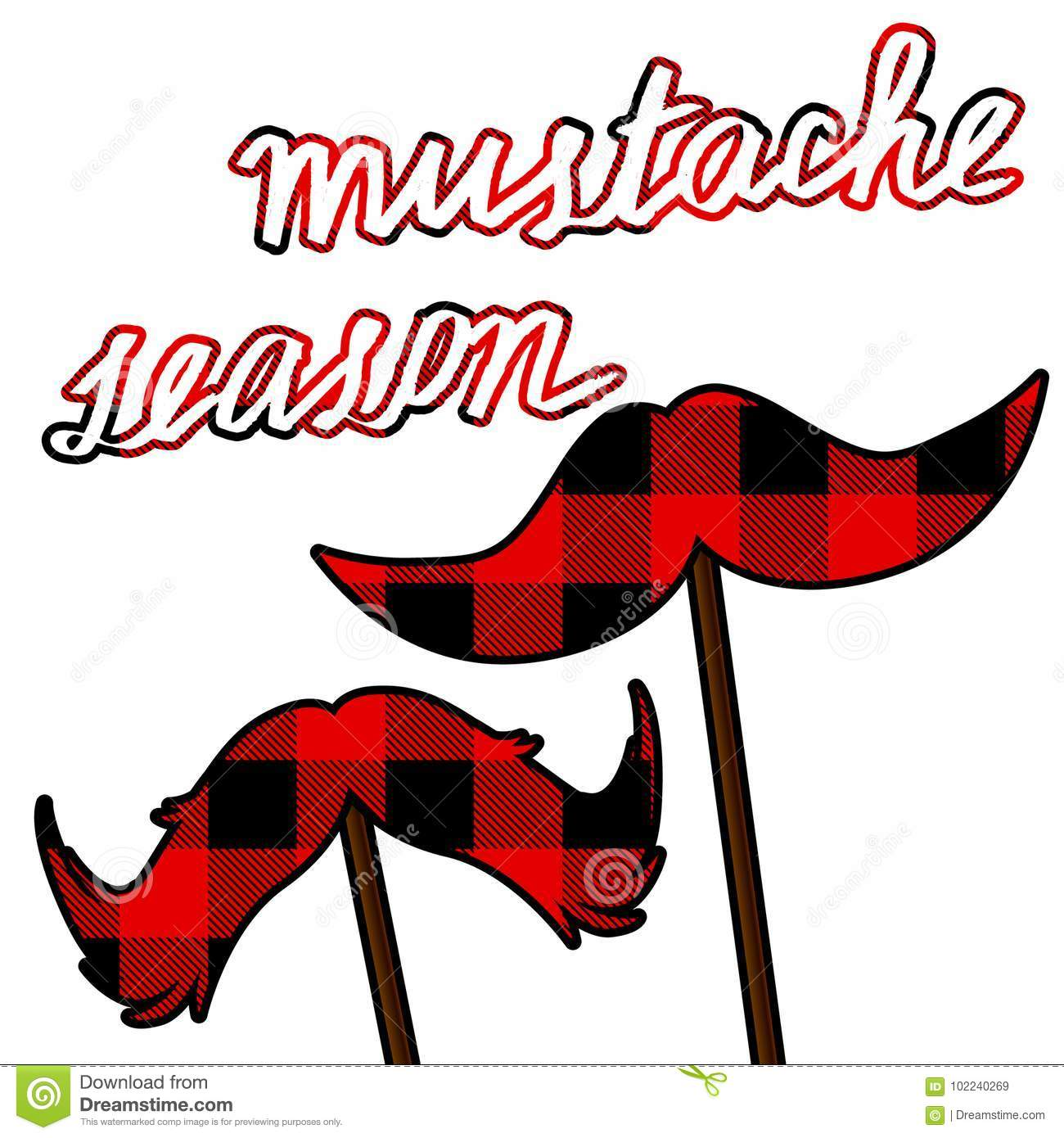 hight resolution of movember moustache card with lumberjack pattern mustache season vector clipart