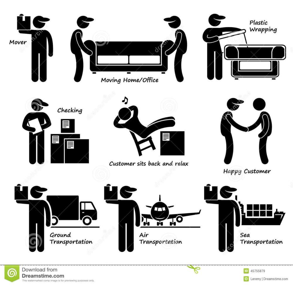 medium resolution of mover services moving house office goods logistic cliparts icons