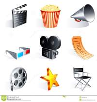 Red Chair Star Director Film Cartoon Vector ...
