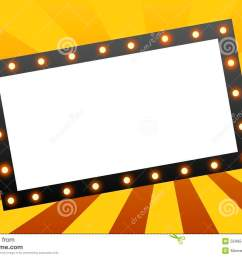movie marquee blank movie marquee sign on star burst background royalty free illustration [ 1300 x 958 Pixel ]