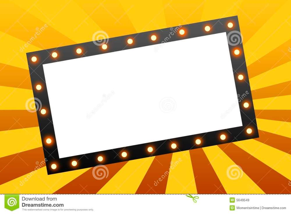 medium resolution of movie marquee blank movie marquee sign on star burst background royalty free illustration