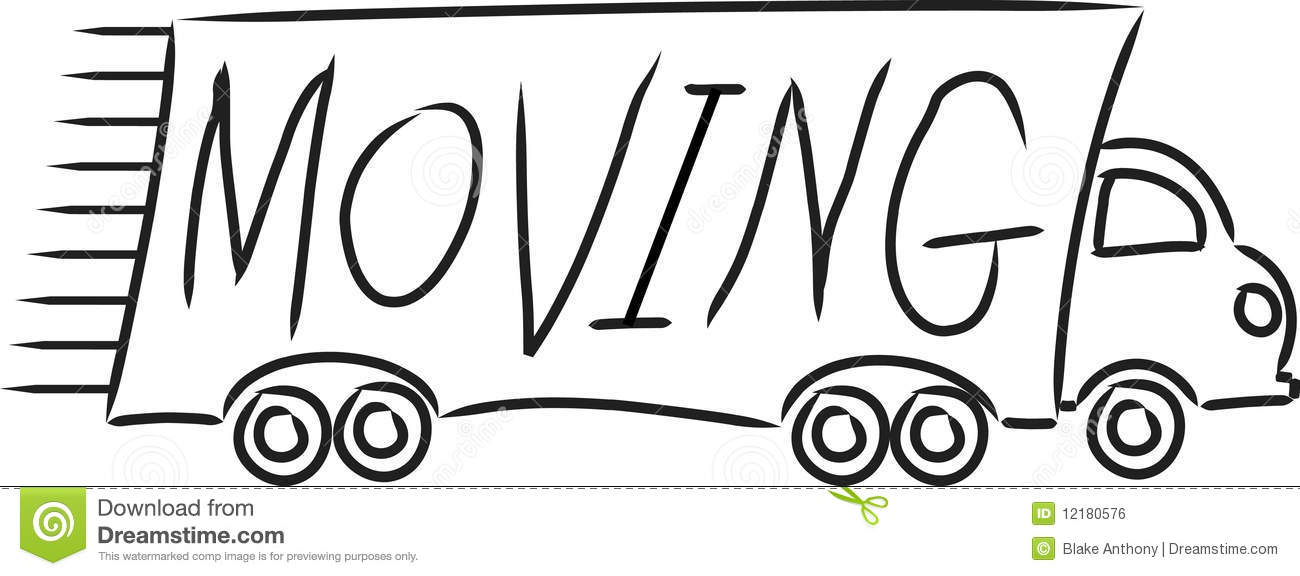 Moving Truck stock vector. Image of relocation, load