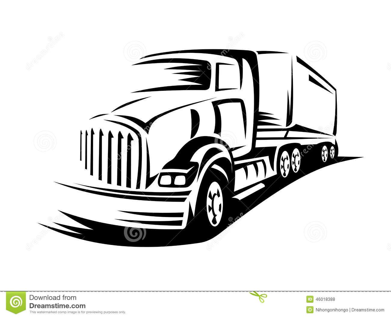 Moving truck stock vector. Image of isolated, motion