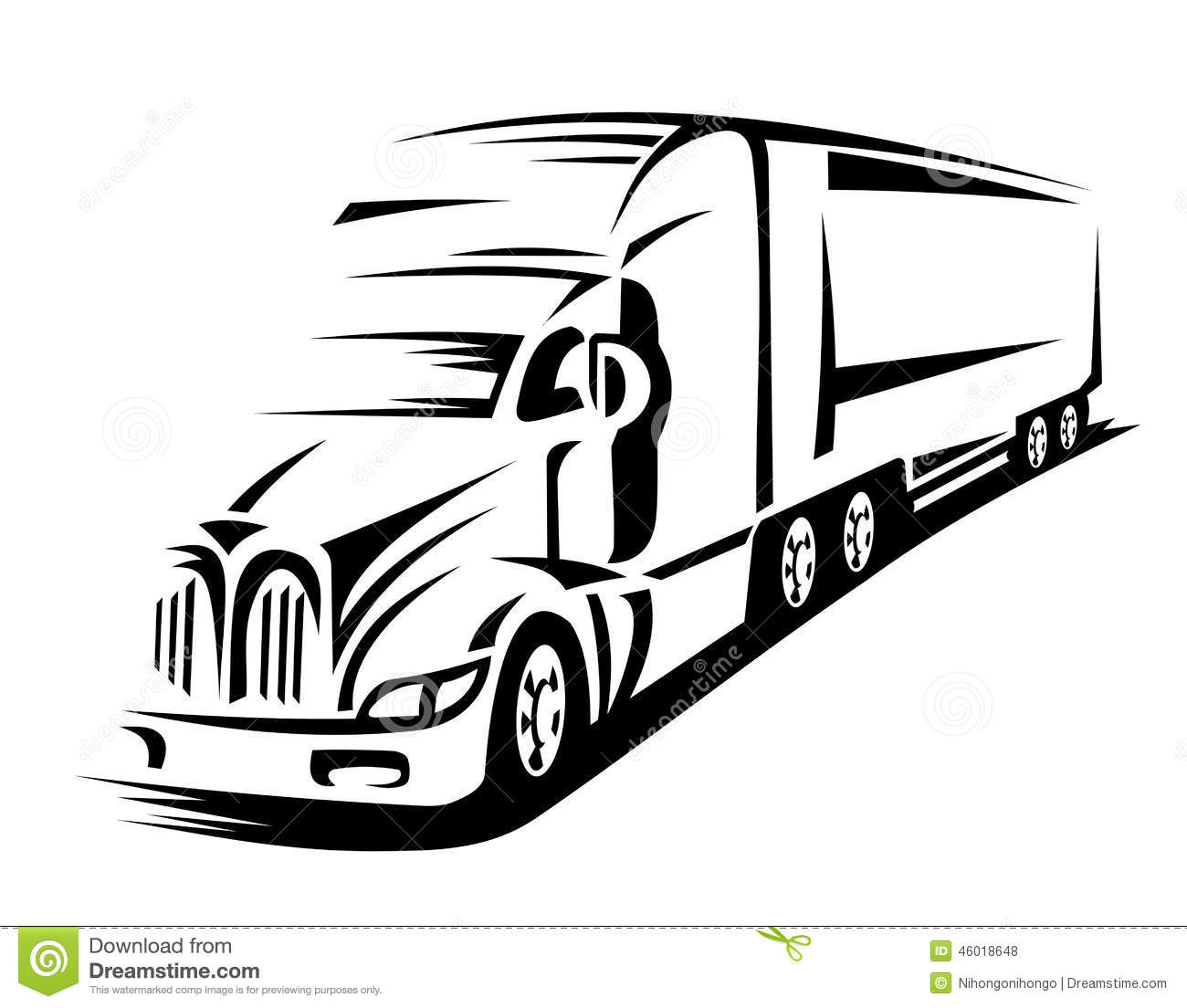 Moving Truck Stock Vector Illustration Of Loading