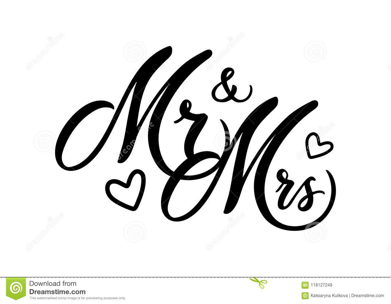 Mr And Mrs Stock Vector Illustration Of Concept Logo
