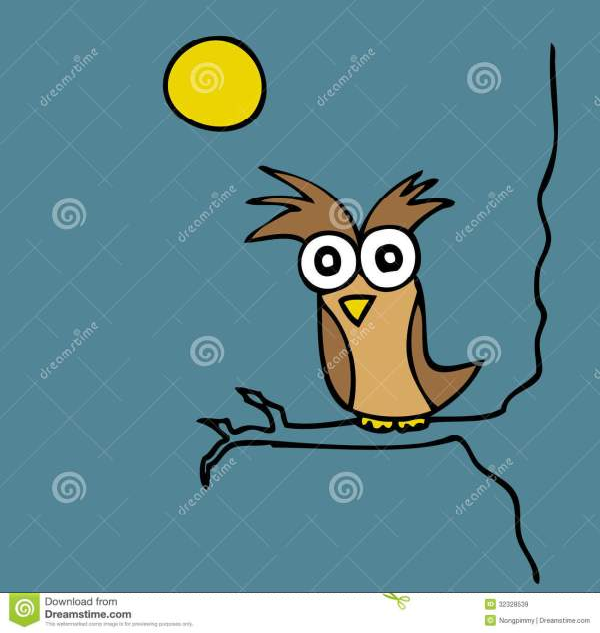 Night Owl Cartoon Clip Art