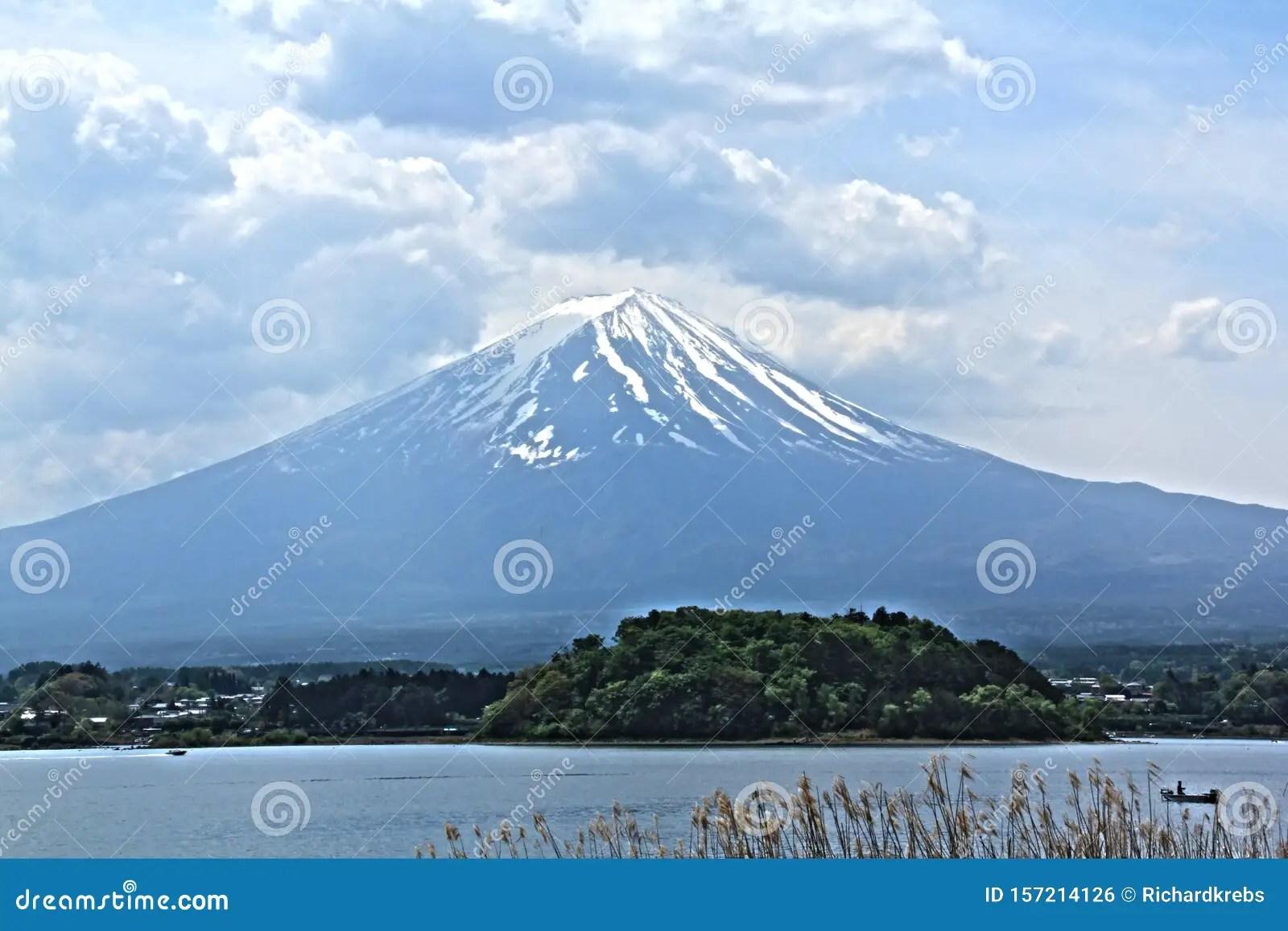 fuji is an active volcano. Mt Fuji Japan Snowcapped Volcano Stock Photo Image Of Local Beautiful 157214126