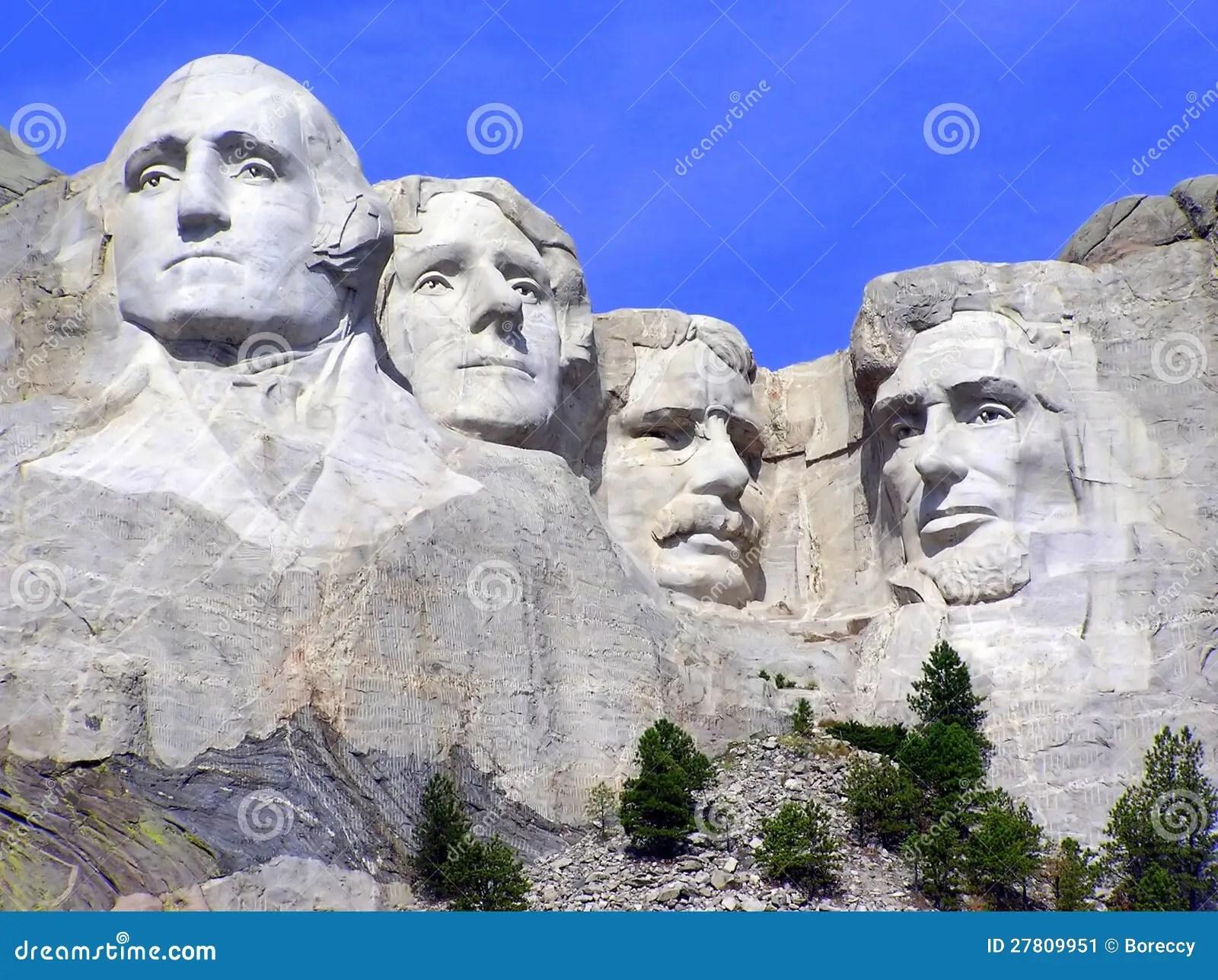 Mt Rushmore Sculpture Of Presidents South Dakota Stock