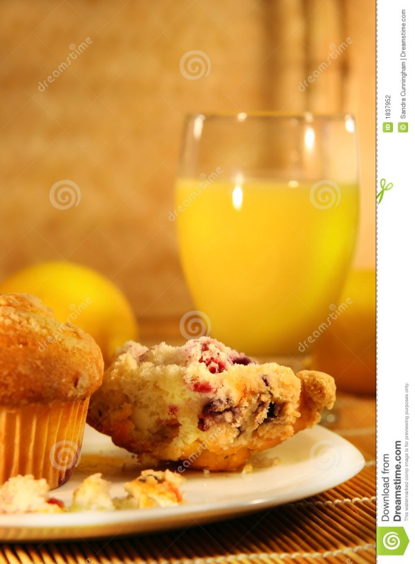 Muffins And Orange Juice Stock Of
