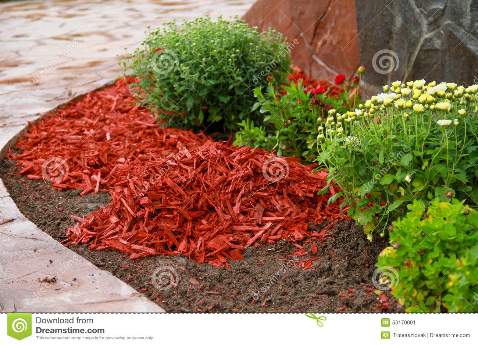 Mulch Around Flowers