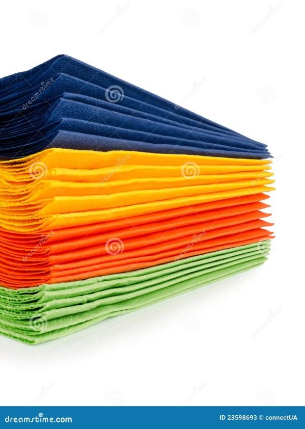 Multi-colored Paper Napkins Stock - 23598693