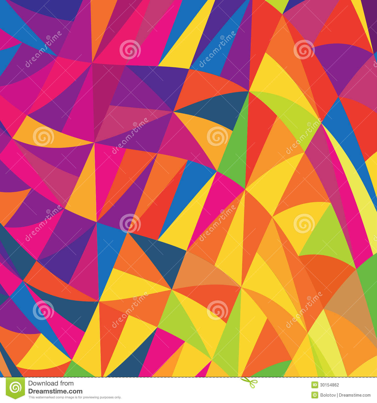 Multi Colored Triangles Background Stock Photography