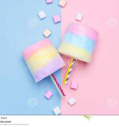 multicolored cotton candy pastel marshmallows minimal style pastel background [ 1300 x 957 Pixel ]