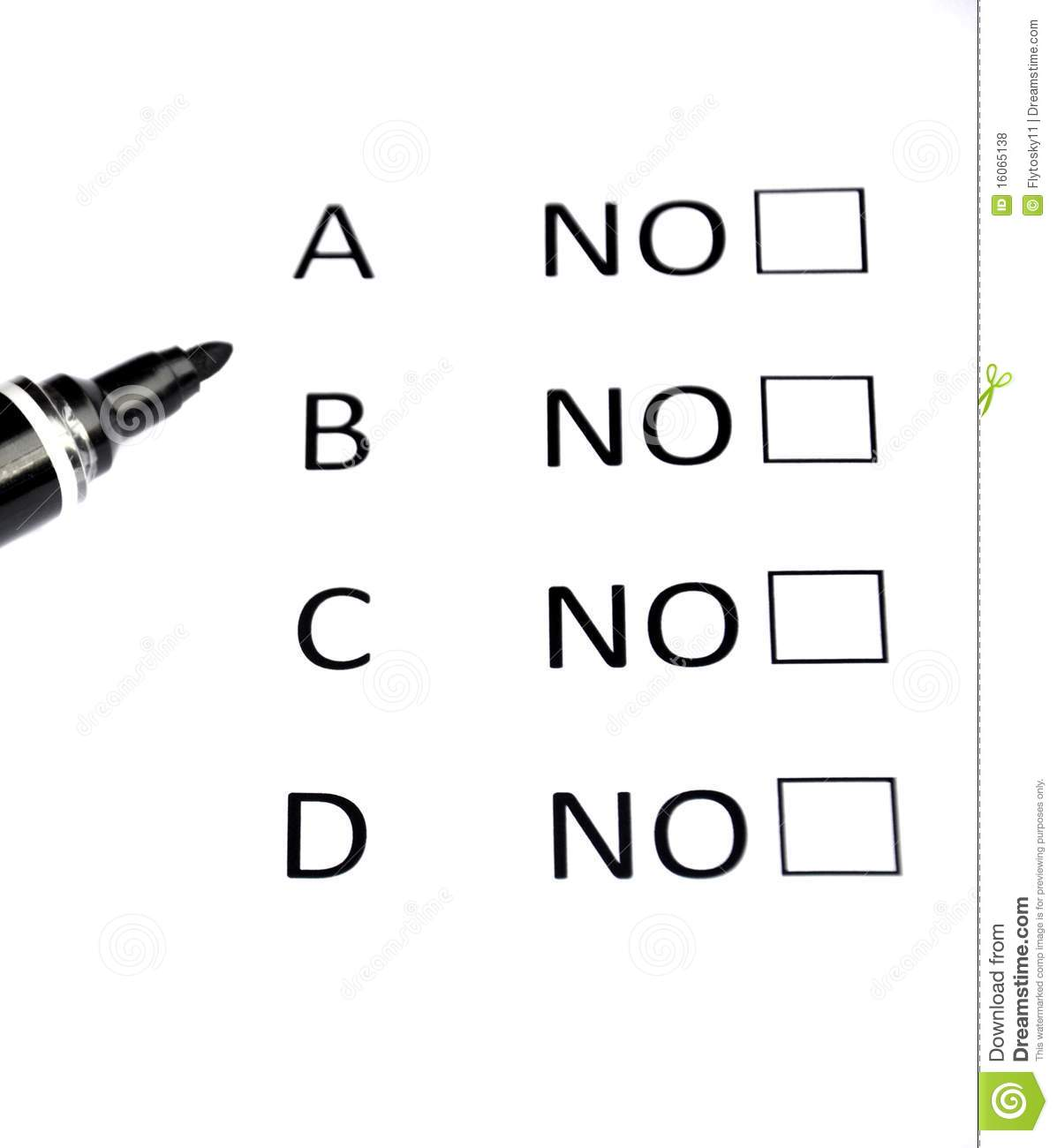 Multiple Choice stock photo. Image of pupil, certainty