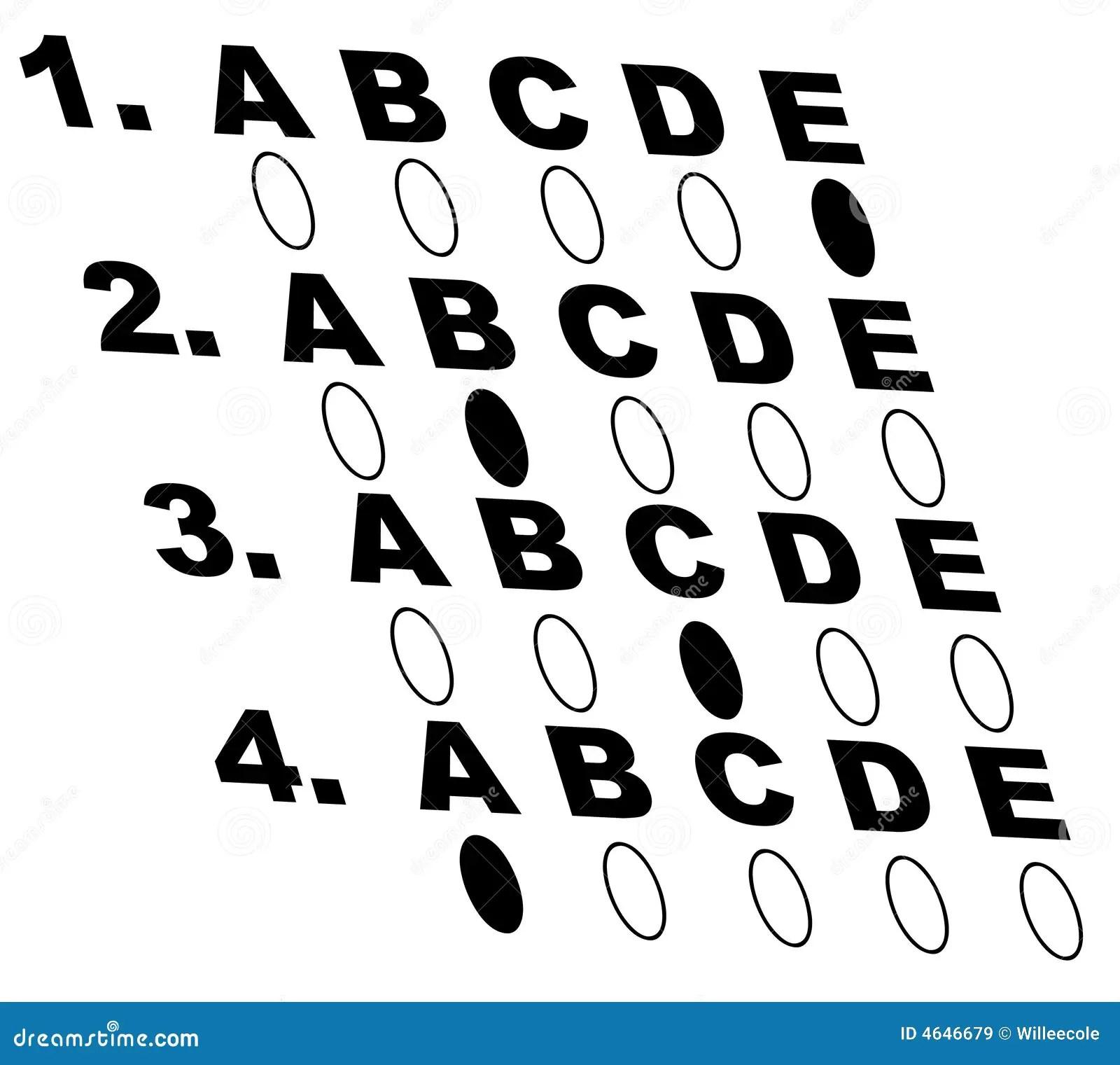 Multiple choice test stock vector. Illustration of