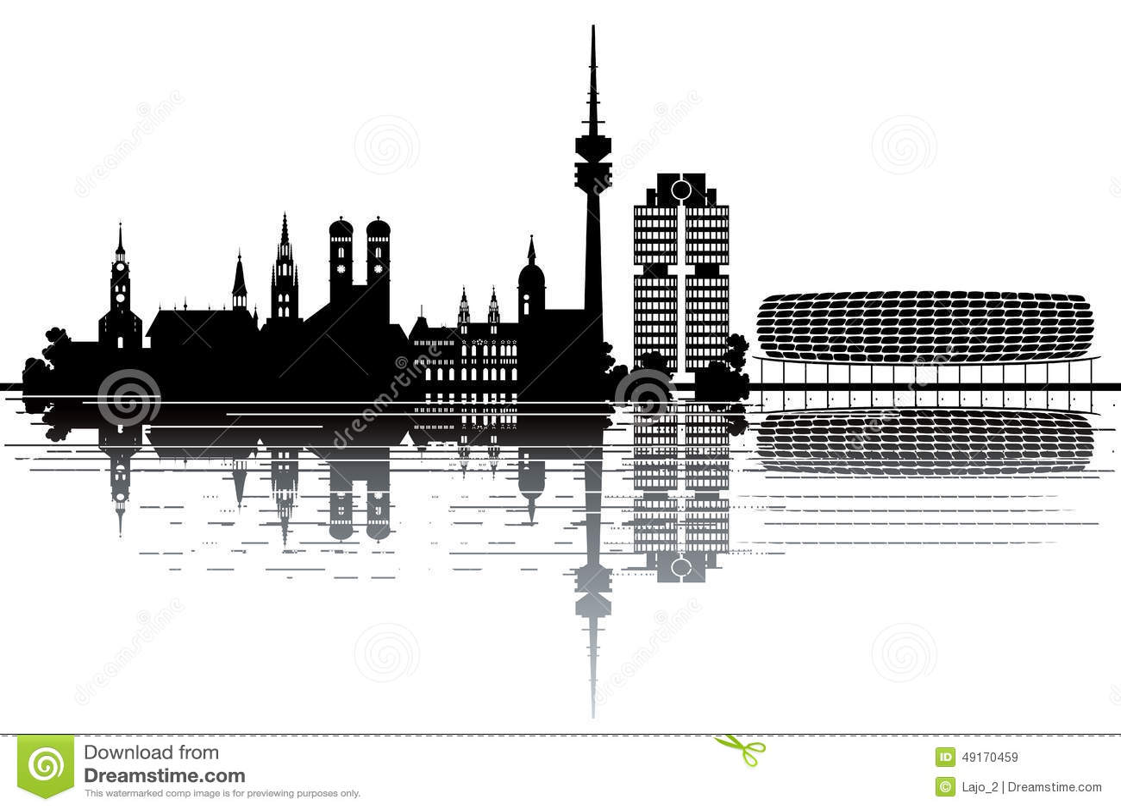 Munich Skyline Stock Vector