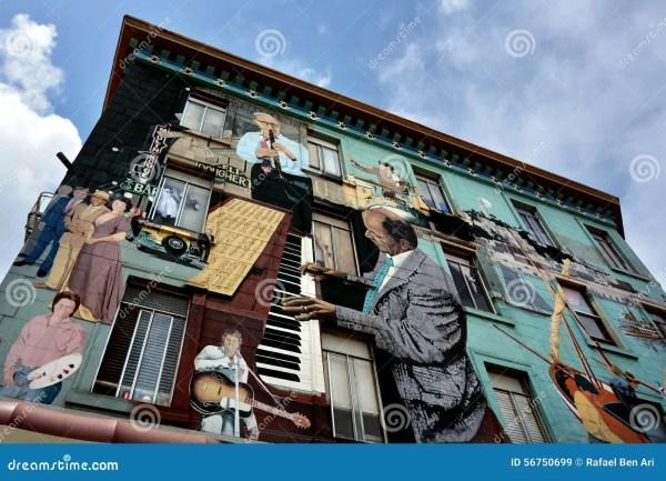 Mural Wall Paint Building In San Francisco California