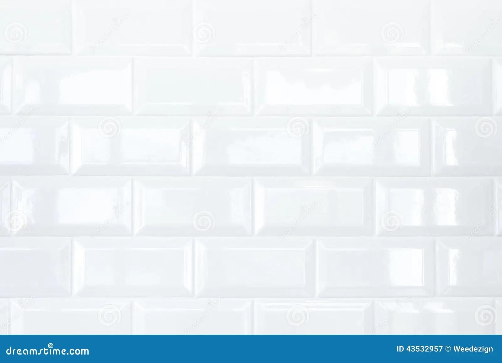 Muro Di Mattoni Bianco Della Piastrella Di Ceramica