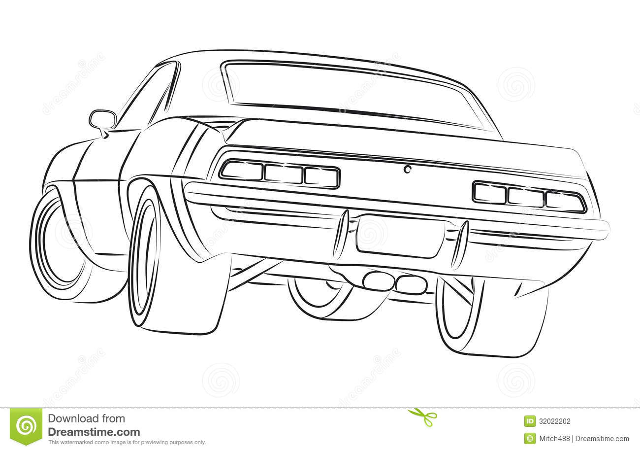 Muscle Car Ilustration Stock Photography