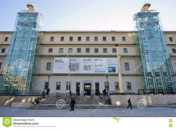 Museo Reina Sofia Museum In Madrid Editorial
