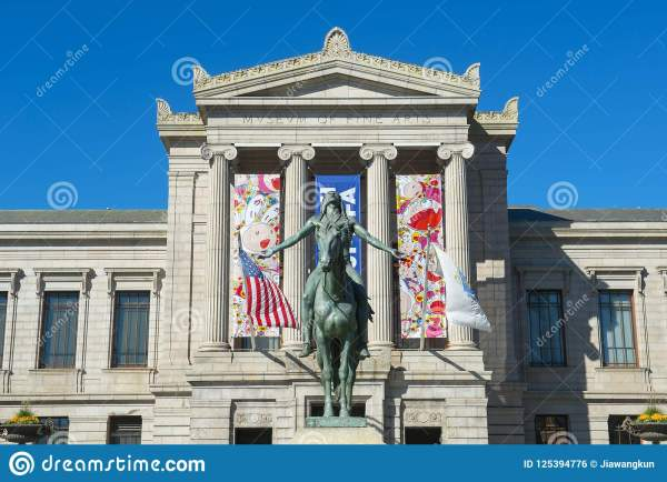 Museum Of Fine Arts Boston Massachusetts Usa Editorial - Building Business