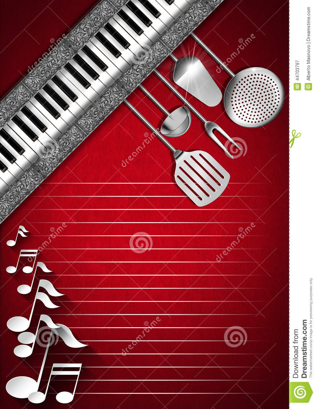 Music And Food Menu Design Stock Illustration Image 44703797
