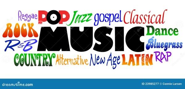 music genres eps stock vector