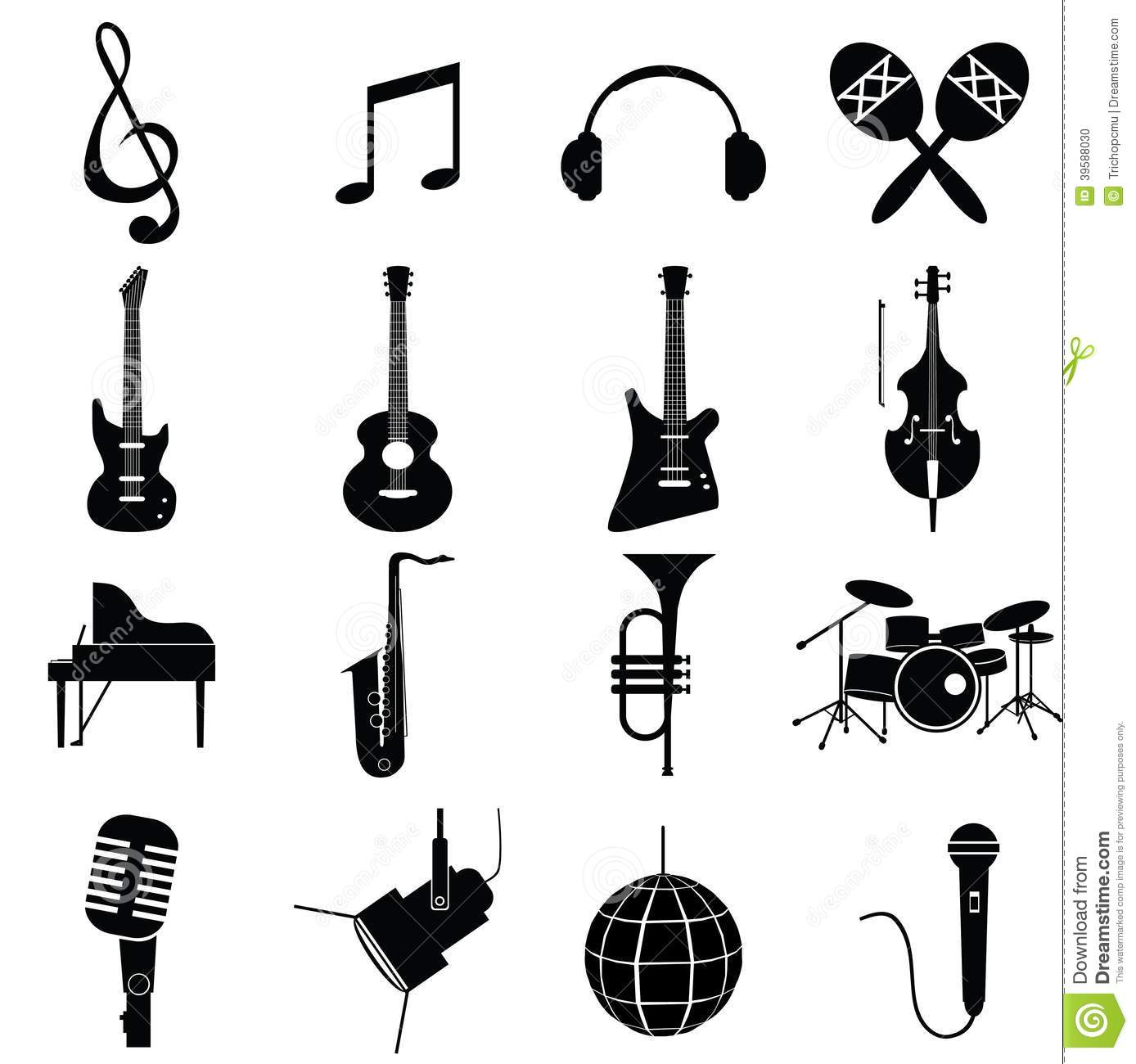 Music Instruments Vector Stock Vector