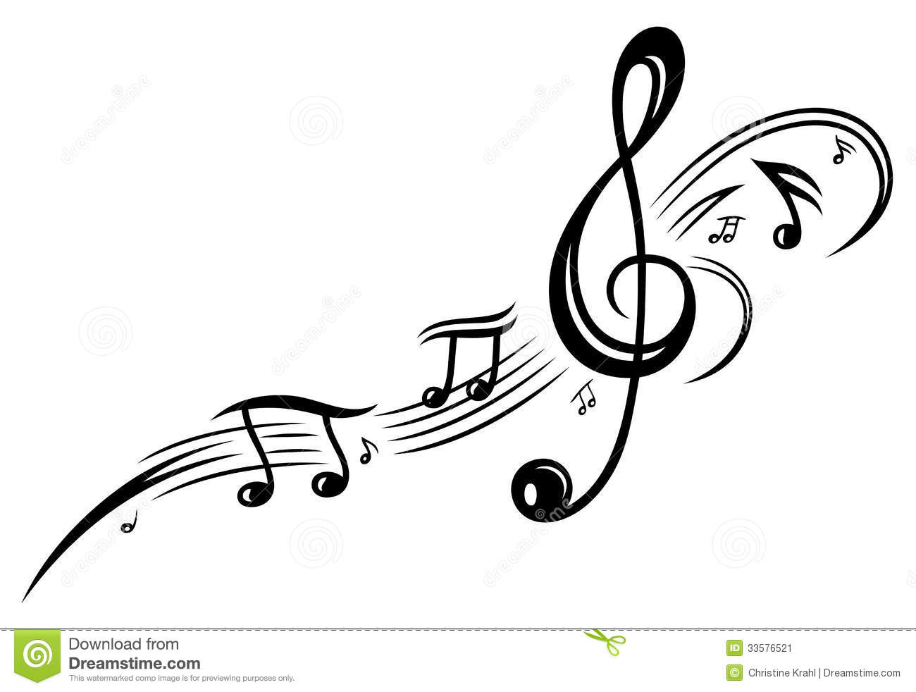 Music, music notes, clef stock vector. Illustration of