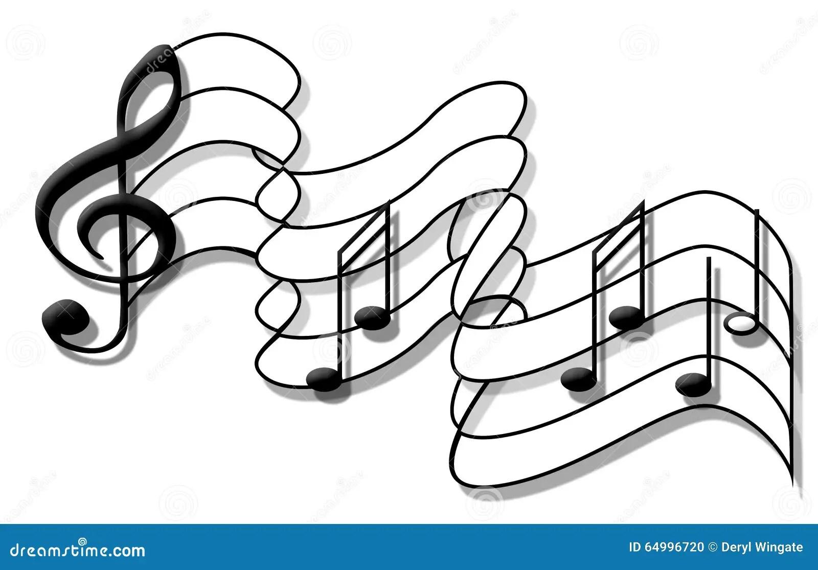 Music Note Flag stock illustration. Image of creativity
