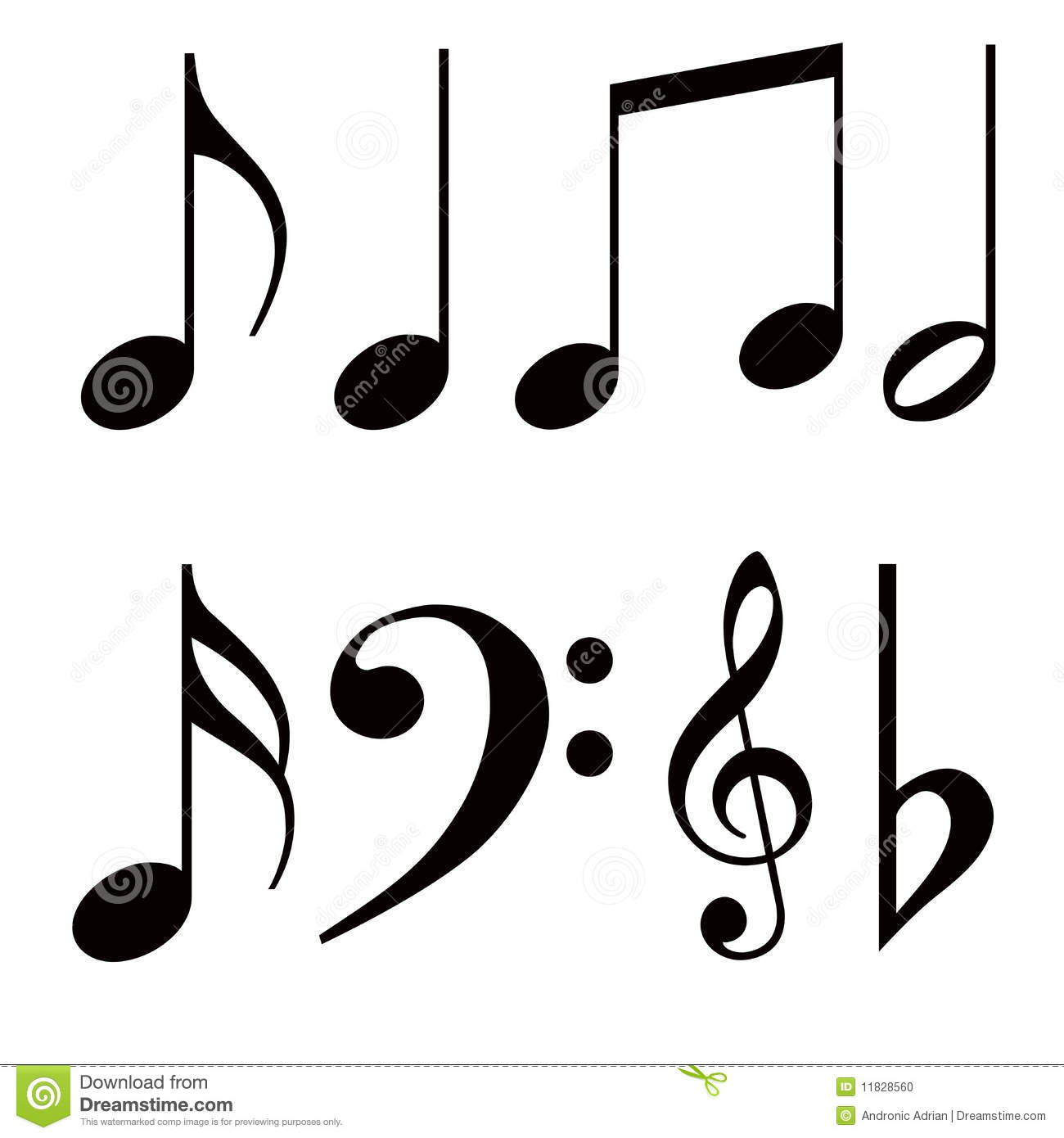 Music notes stock illustration. Image of black, play
