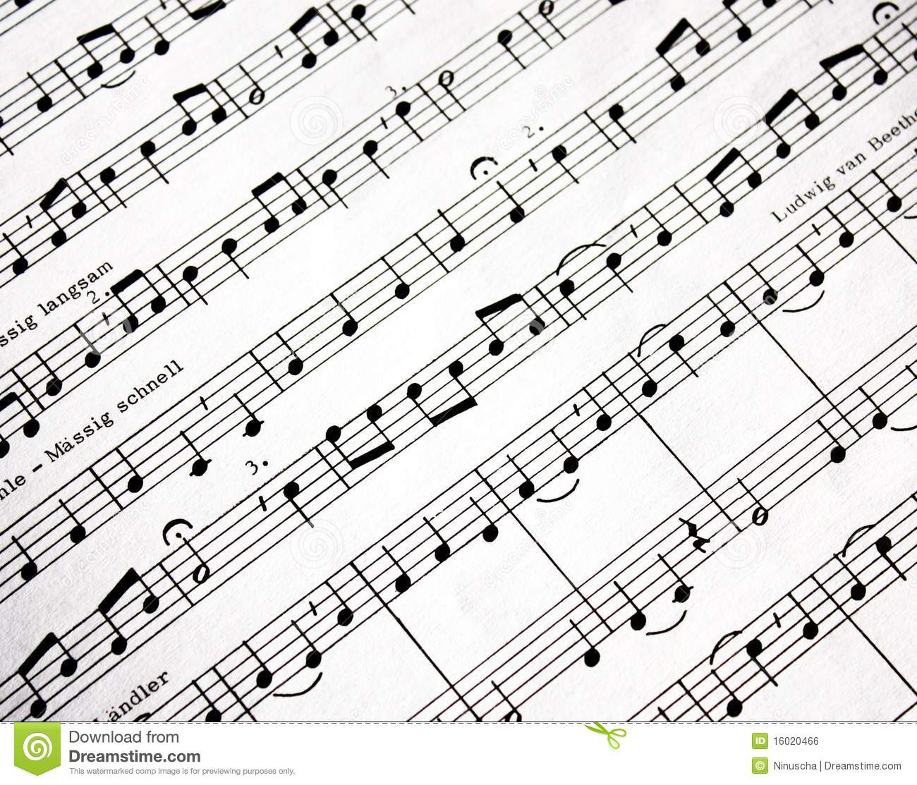 Music notes stock photo. Image of musical, graphic, line
