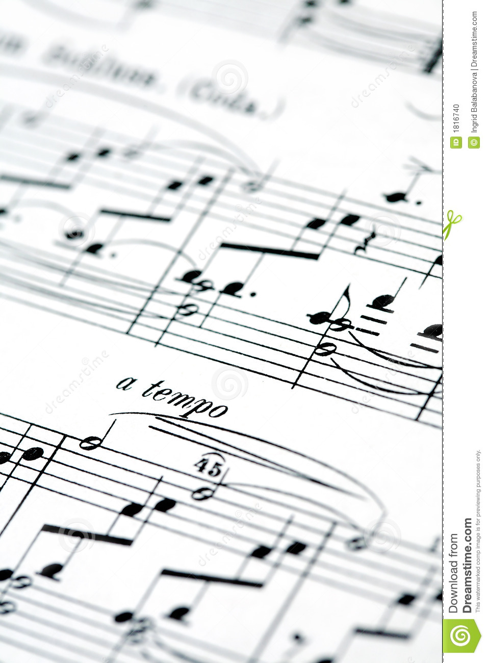 Music notes stock photo. Image of harmony, sheet, musical