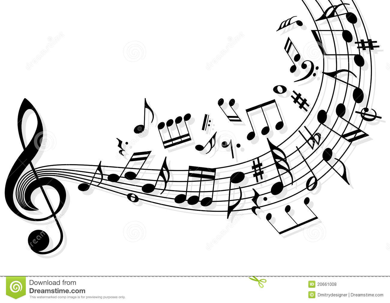 Music notes stock vector. Illustration of banner, music