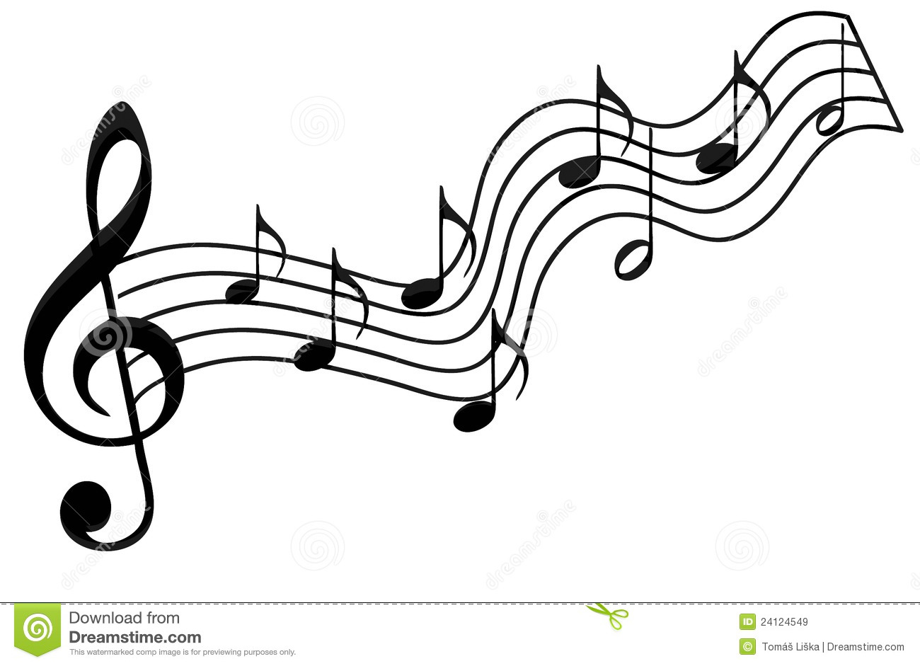 Music notes stock illustration. Illustration of isolated