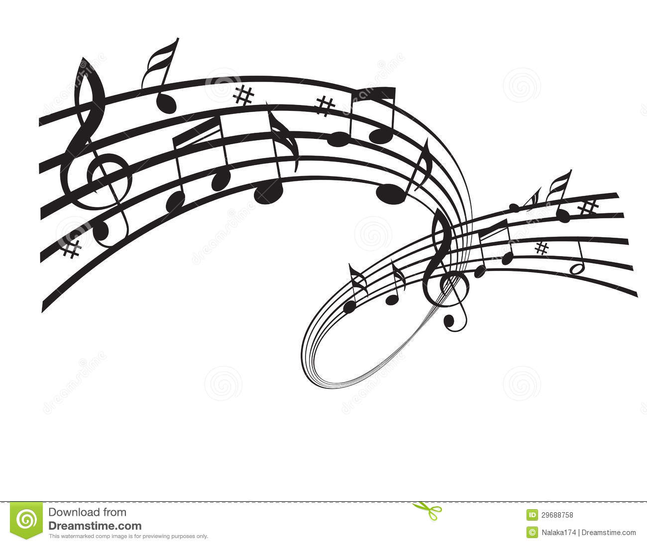 Music notes stock vector. Image of instrument, black