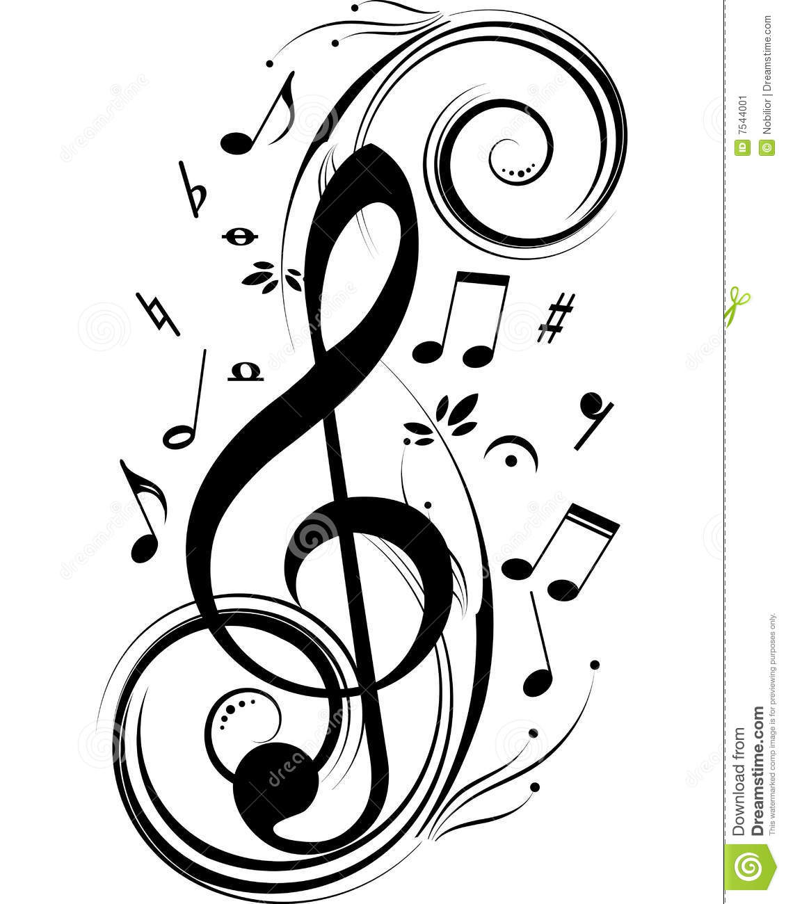 Music notes stock vector. Image of accords, dance, club