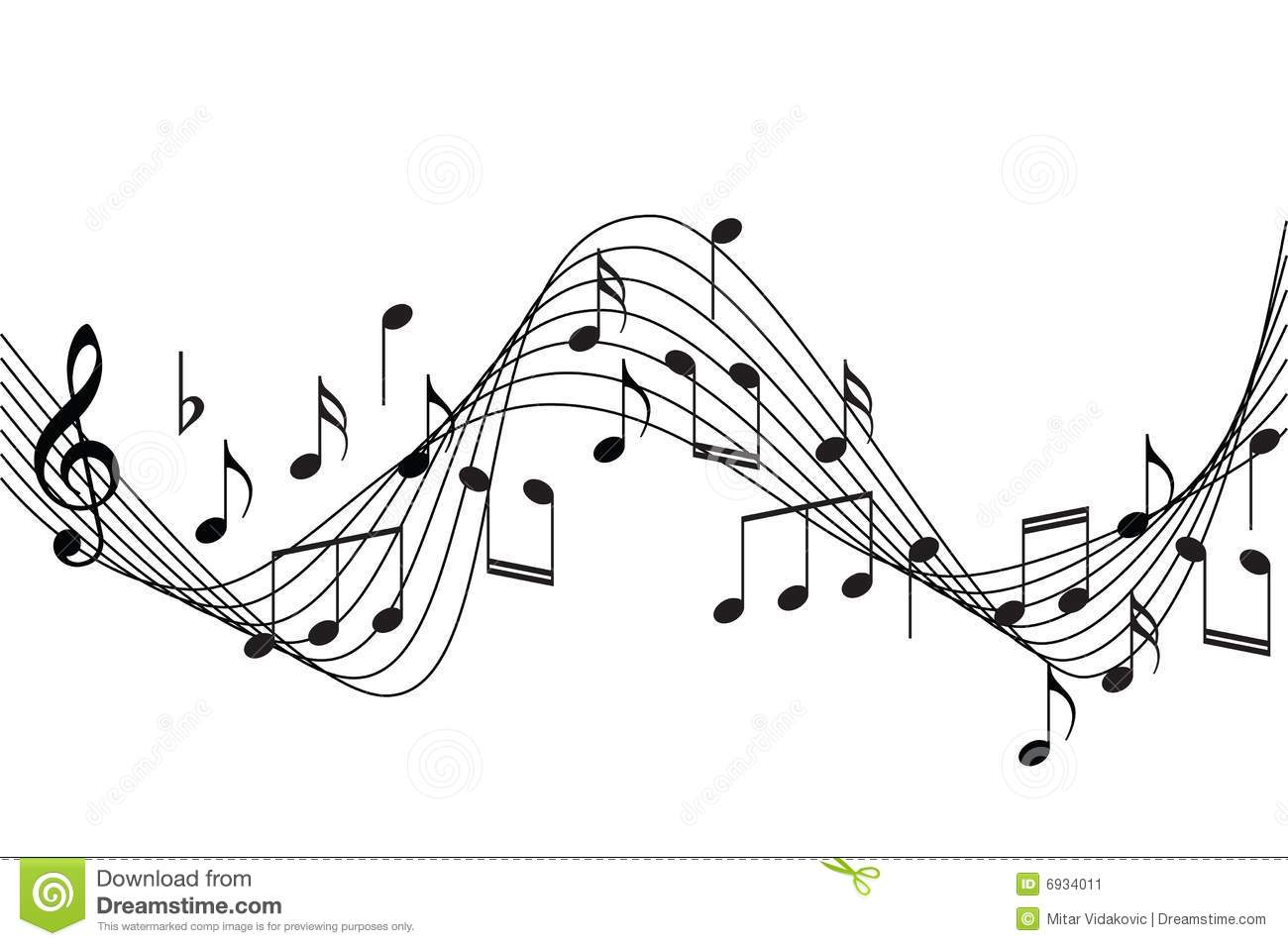 Music Notes Background Stock Vector Illustration Of Bass