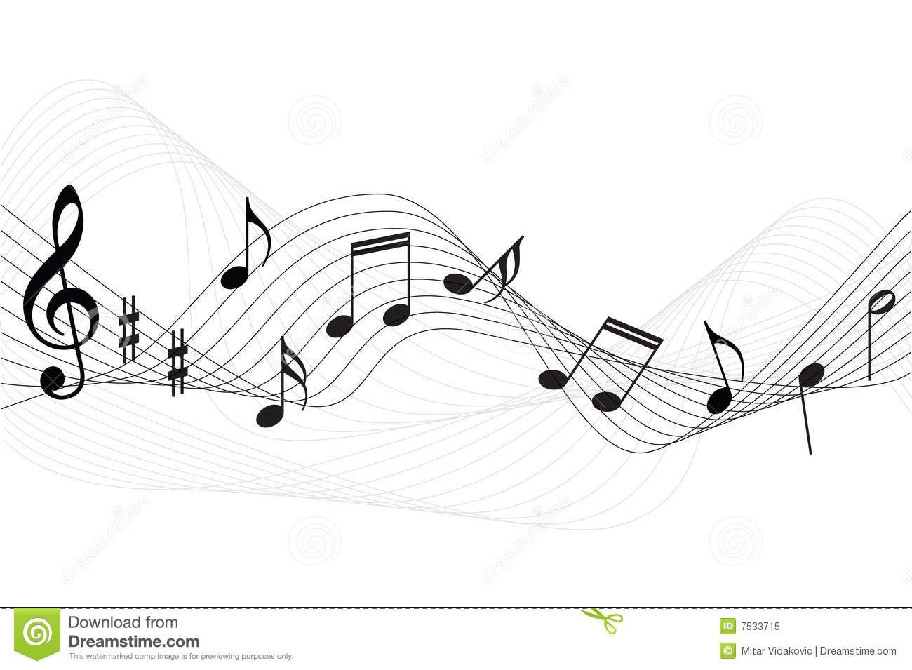 Music Notes Background Stock Vector Illustration Of