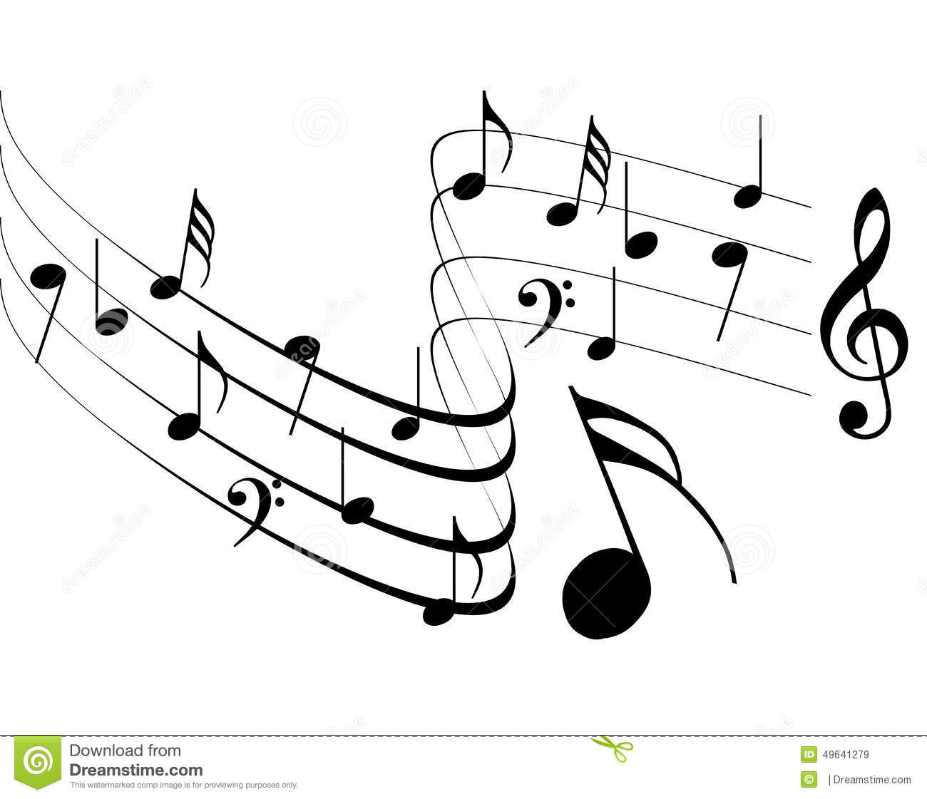 Music Notes Design Stock Vector Illustration Of Clef