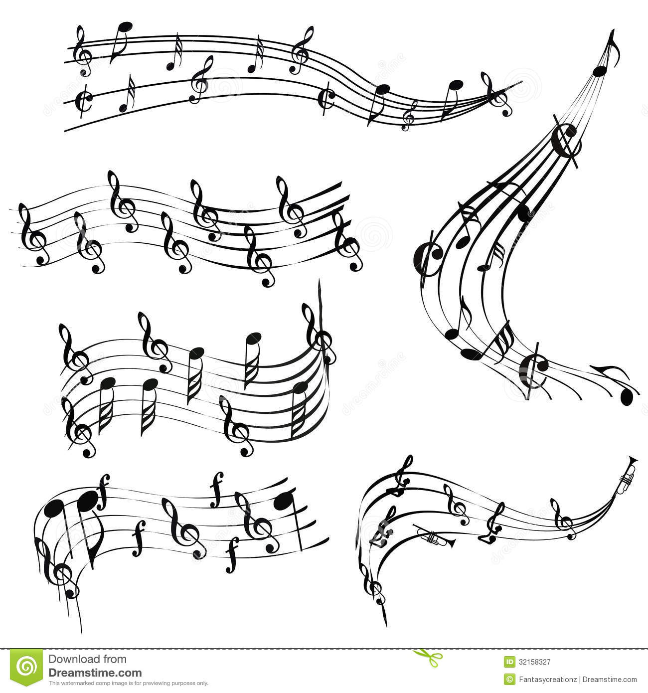 Music Notes Stock Vector Image Of Single Clef