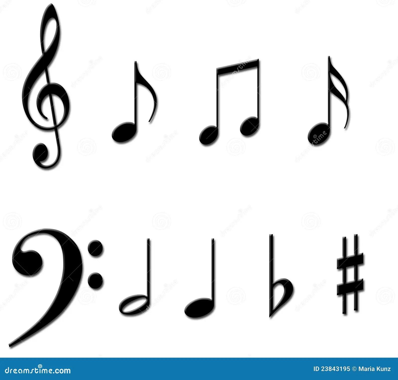Music Notes Symbols Stock Illustration Illustration Of