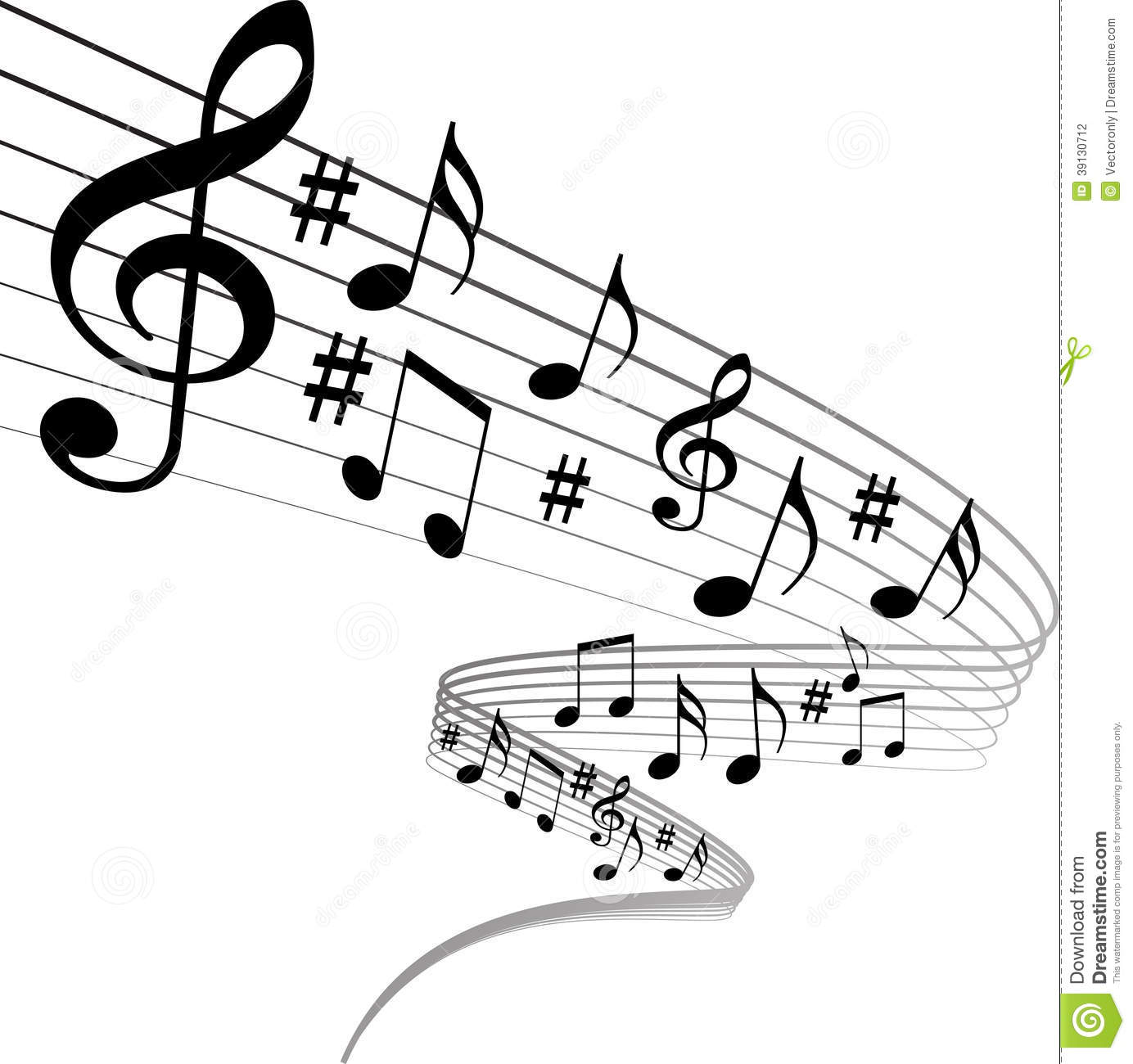 Music notes stock vector. Image of brush, backdrop, disco