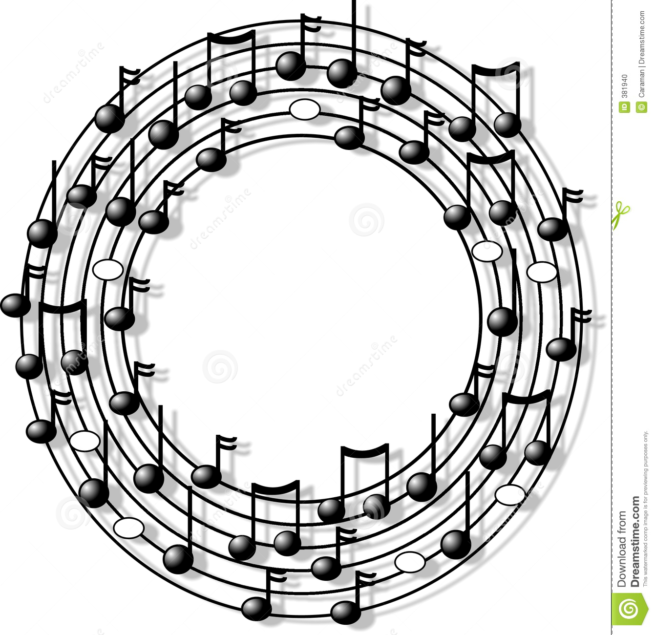 Music ring stock illustration. Illustration of humor