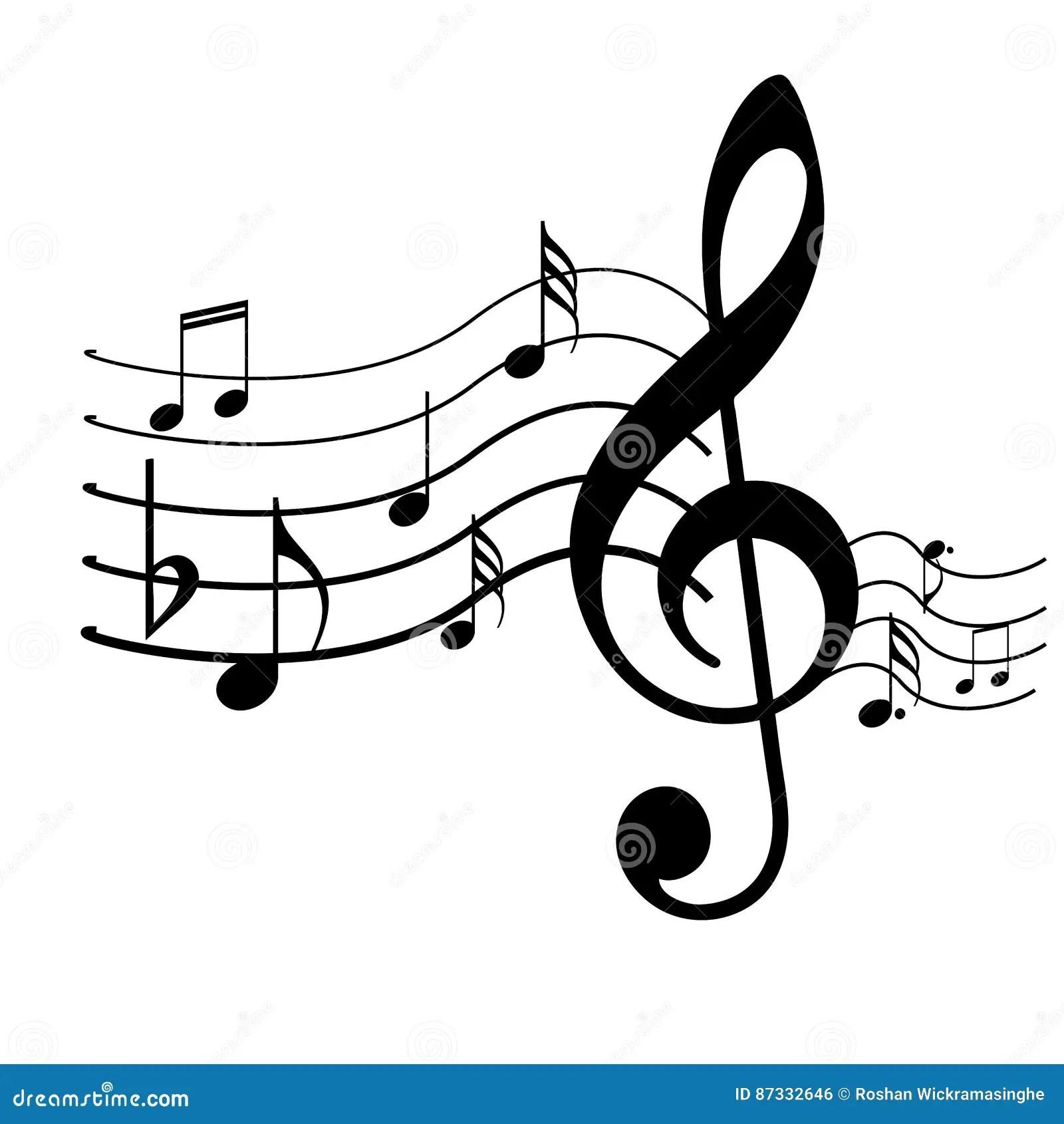 Music symbols design stock vector. Illustration of bars