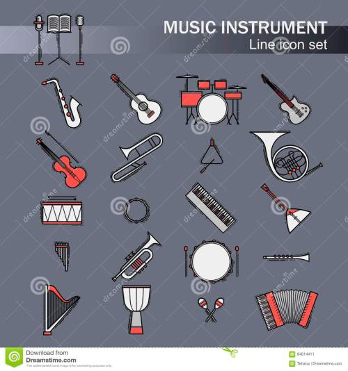 small resolution of musical colorful instruments icons set vector classic element illustration saxophone cello horn guitar piano