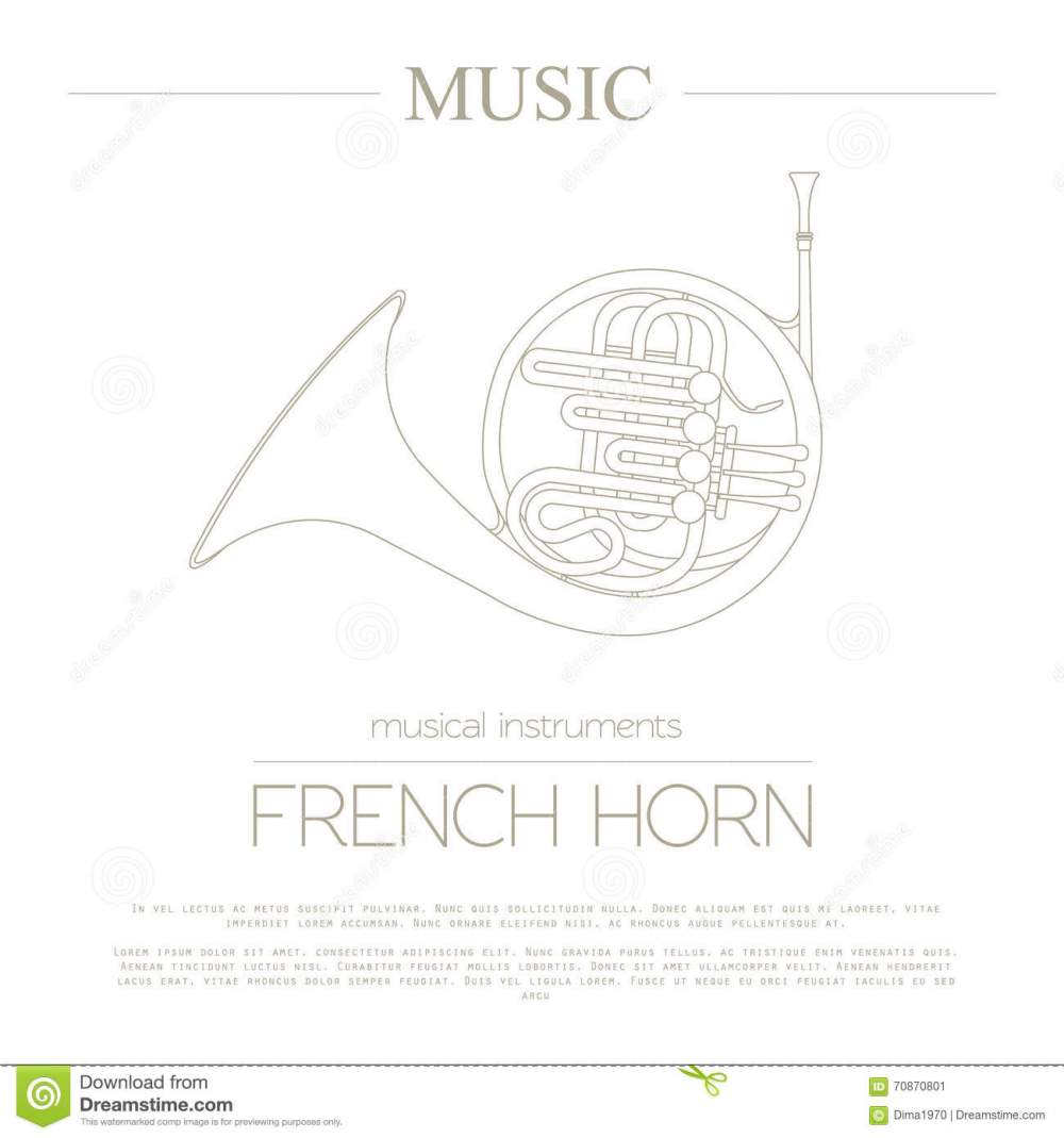 medium resolution of musical instruments graphic template french horn